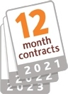 12 month contracts