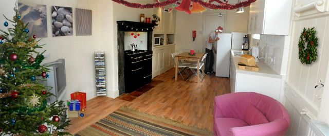 Kitchen/living room at 12 Devon Terrace; Rooms available now from £90/week BILLS INCLUDED