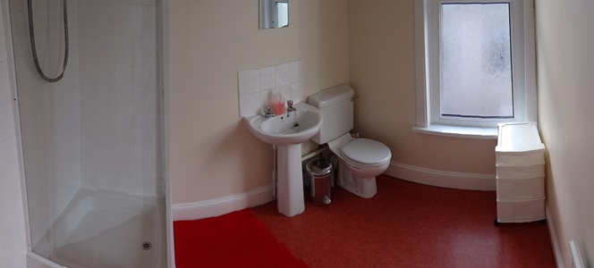 One of the two shower rooms at 11 Kingsley Road