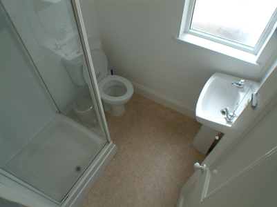 One of the two shower rooms at 13 Kingsley Road