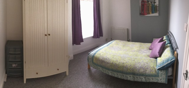 Bedroom in our 1-bed student flat