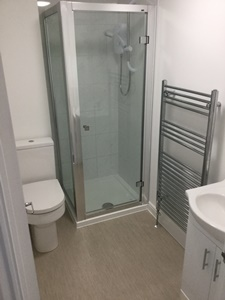 Shower room in this student flat