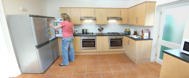 Kitchen at 13 Kingsley Road; Rooms from £71/week BILLS INCLUDED